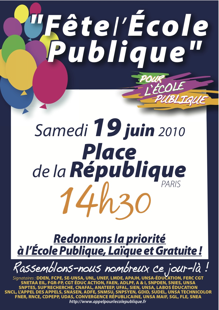 Tract Paris 19 juin 2010