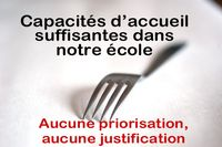 Inscription cantine scolaire