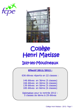 Livret d'accueil Matisse