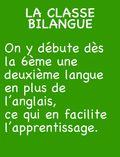 CLASSE BILANGUE