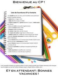 Liste fournitures 2012 La Fontaine blog