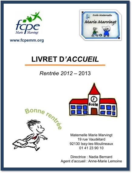 Livret accueil 2012