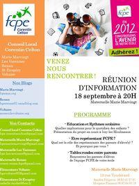 Affiche réunion info rentrée 2012