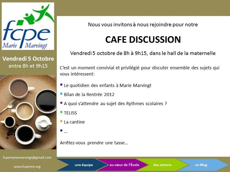 Café discussion 5oct12