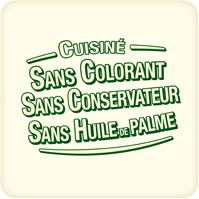 Sans colorants, conservateur, huile de palme