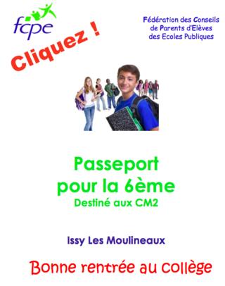 passeport collège 6è Issy (92)