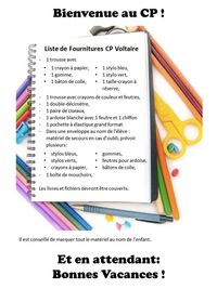 Liste fournitures 2013 Voltaire blog