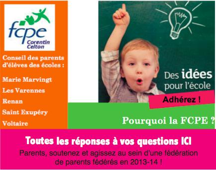 Bulletin d'adhésion FCPE 2013-14