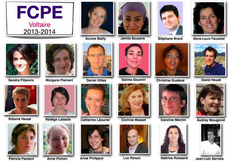 équipe FCPE Voltaire 2013-4