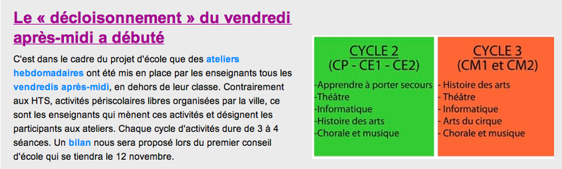 newsletter FCPE 1 décloisonnement