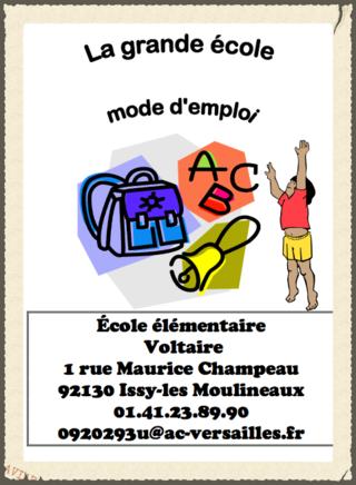 Livret école Voltaire