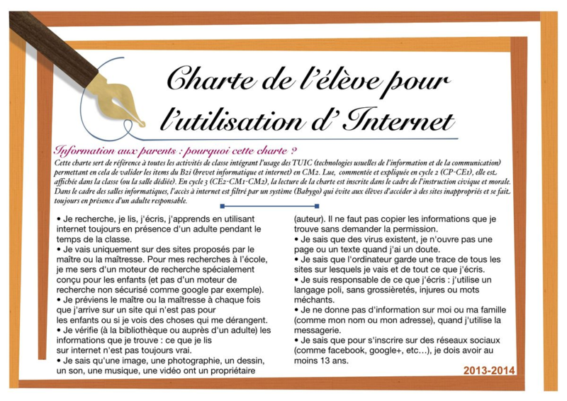 Charte internet