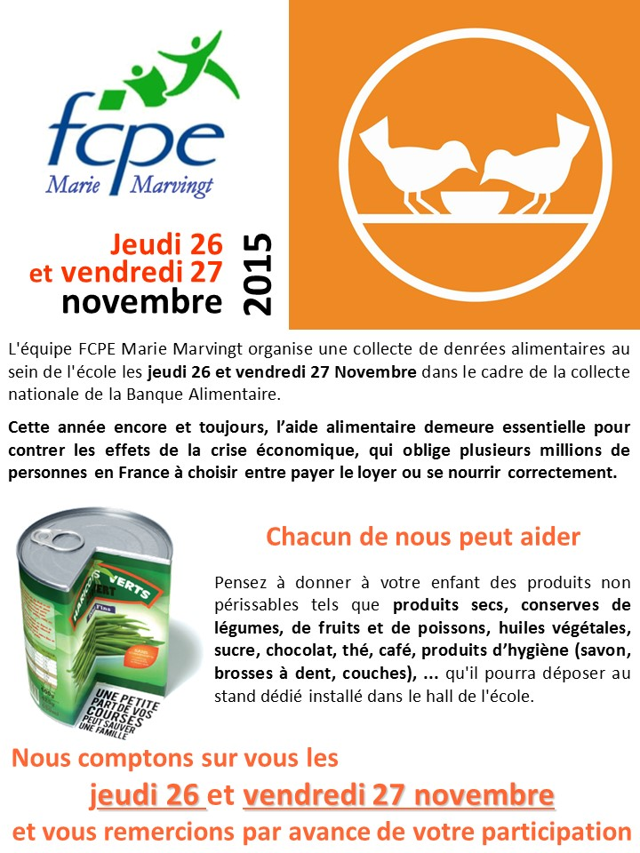 Banque alimentaire 2015