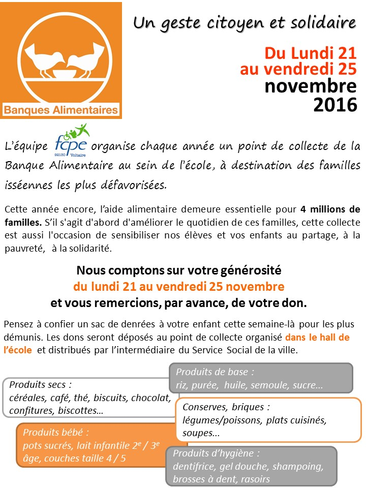 Flyer banque alimentaire 2016