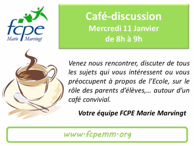 Café discussion 11 janv