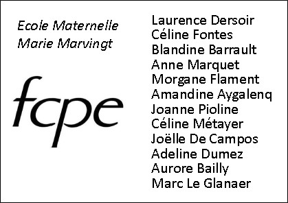 Bulletin de vote 2015 FCPE Marie Marvingt