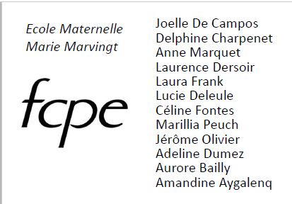 Bulletin de vote 2016 FCPE Marie Marvingt