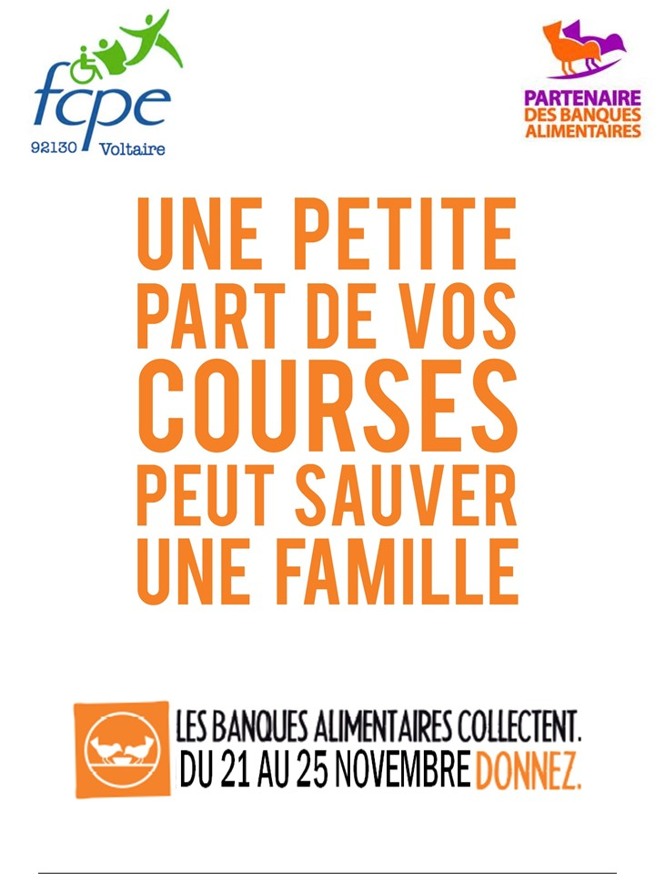 Flyer banque alimentaire 2016 - 2
