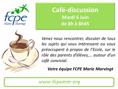 Café discussion 6 juin