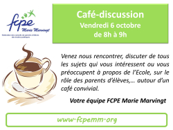 Affiche Café discussion
