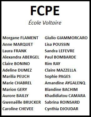 Bulletins FCPE Voltaire 2018-19