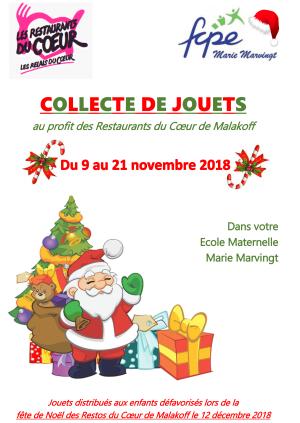 Affiche COLLECTE DE JOUETS - A5 - Version Noël-1