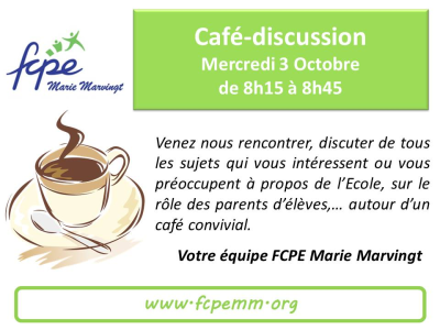 Café discussion 3 Octobre