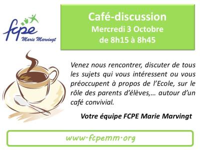 Café discussion 3 Octobre