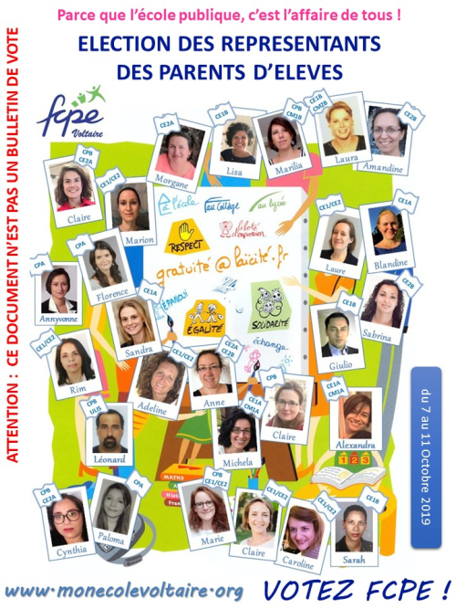 Profession de foi FCPE Voltaire 2019 v0