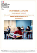 Protocole sanitaire 2020-21
